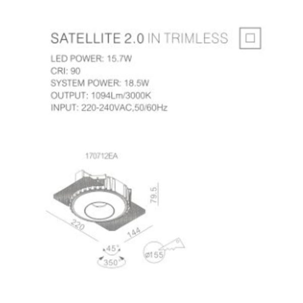 How to install satelite spotlight to the ceiling