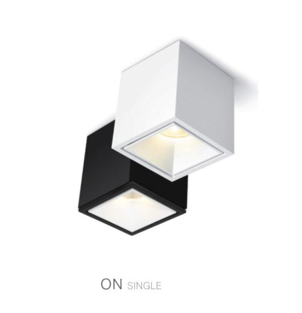 White and black kubic shape spotlights