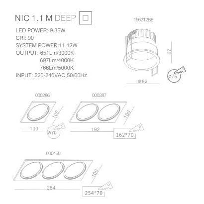 LED spot light NIC 156212BEA Matt White