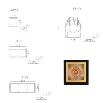 LED spot light NIC 176312EA Golden
