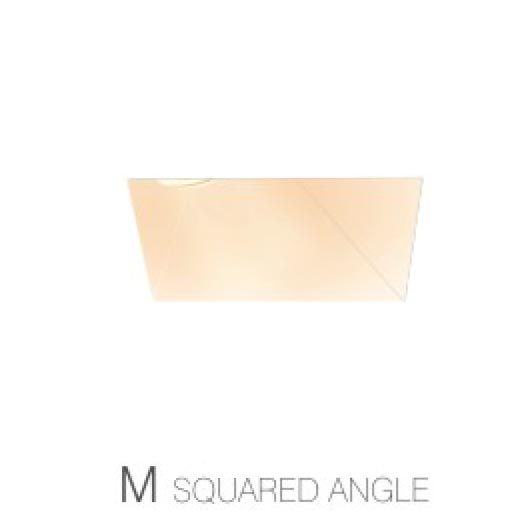 Modern Square trimless spotlight installed with angle