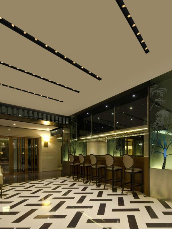 Modern interior design with lighting de