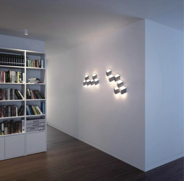 Nice lighting design in a modern flat