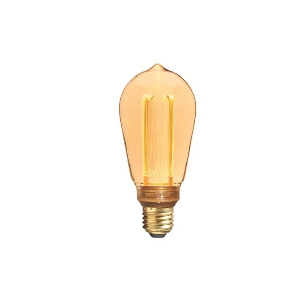 Retro look bulb for lighting fixtures.