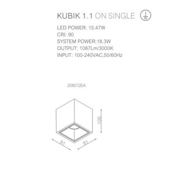Technical sheet of spotlight 208012EA