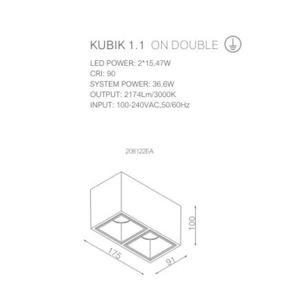 Technical sheet of spotlight 208122EA.