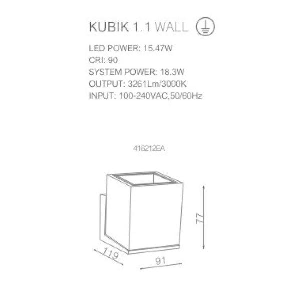Technical sheet of spotlight 416212EDT