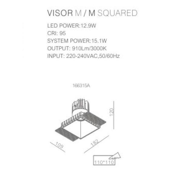 Trimless spotlight technical data sheet 166315