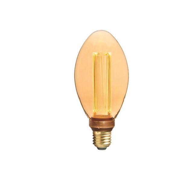 Vintage style bulb oblong shape.