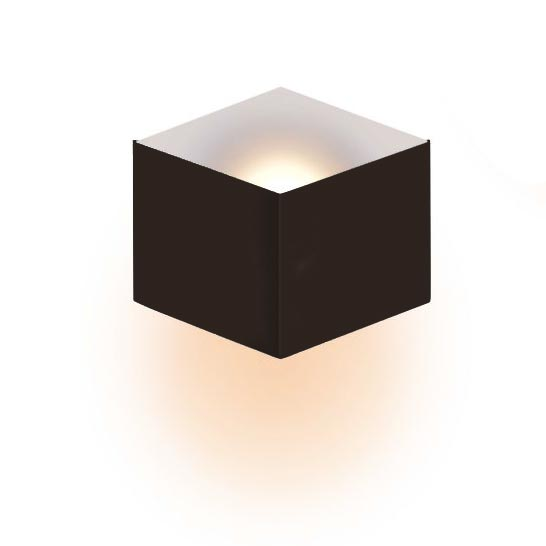 Wall light brown coffee color with matt white.