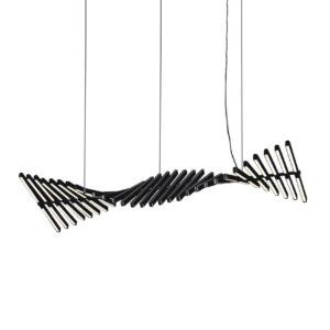Swing chandelier in the shape of a wave.