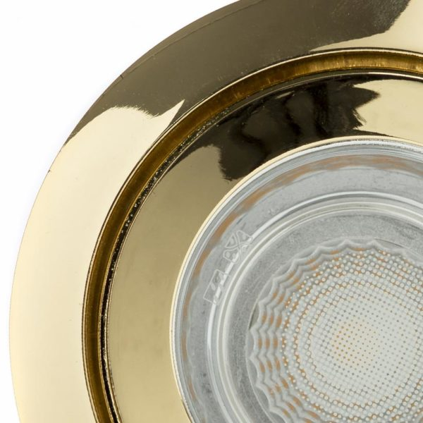 Gold spotlight front view photo