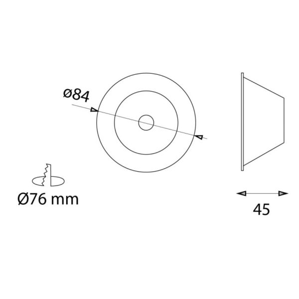 Product dimensions on the drawings