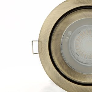 Satin nickel interior spotlight photo