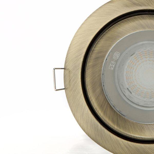 Satin nickel interior spotlight photo