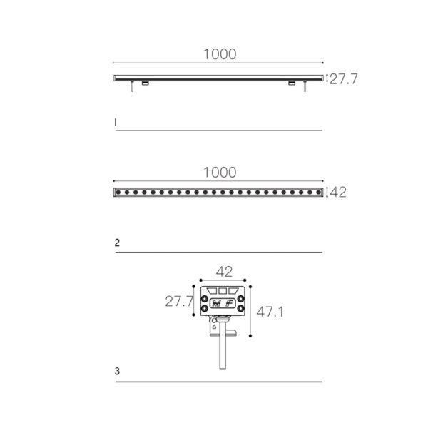 Mona lighting fixture dimensions drawing