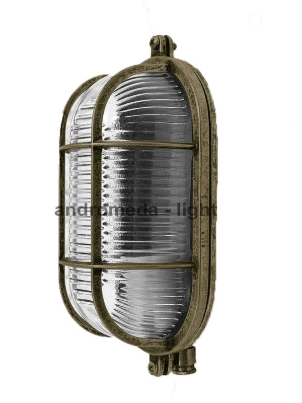 antique brass finish light