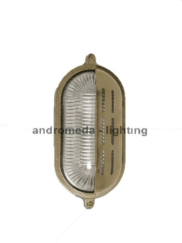 antique finish bulkhead lamp