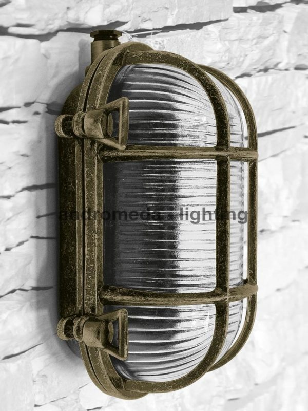 brass lamp in vintage style