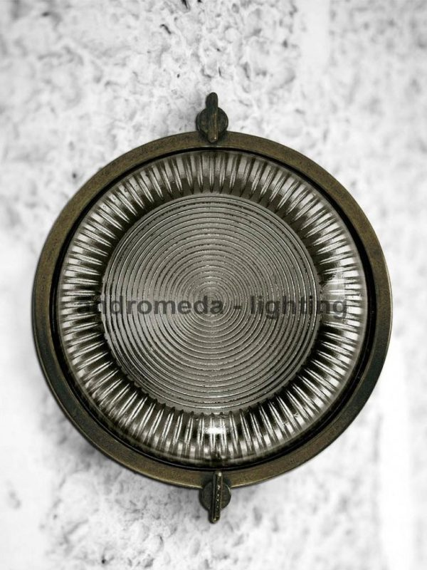 dark brass round bulkhead lighting