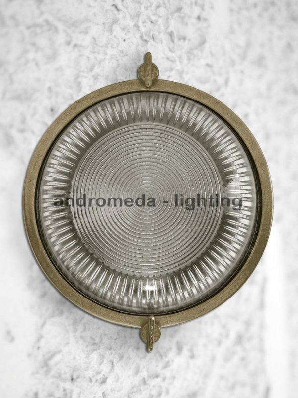old look round ceiling lamp