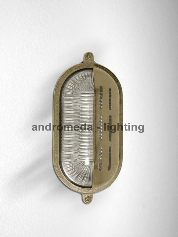 outdoor brass finish wall lantern