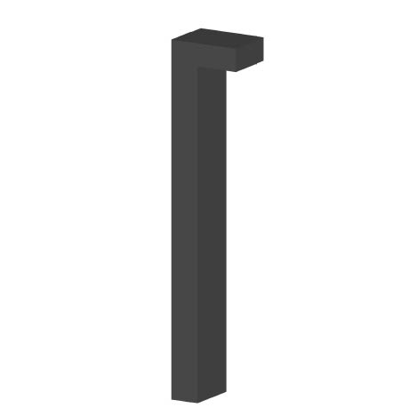 exterior bollard light for street installation