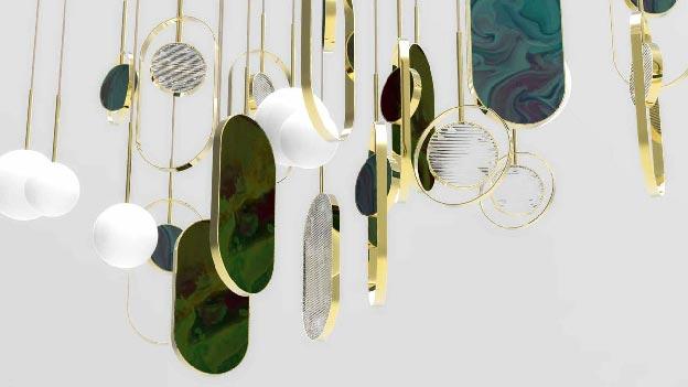 Modern custom made designer lighting