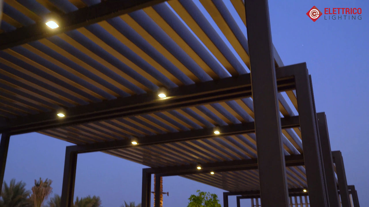 Outdoor pergola lighting