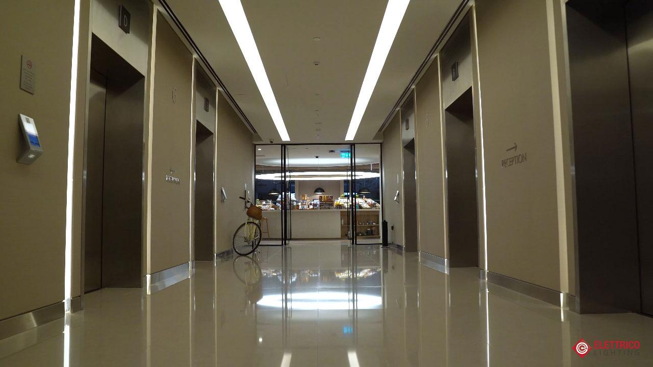 Hotel hall lighting